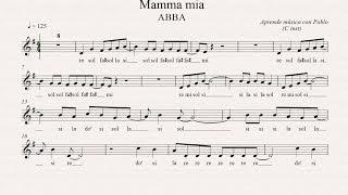 MAMMA MÍA: (flauta, violín, oboe...) (partitura con playback)