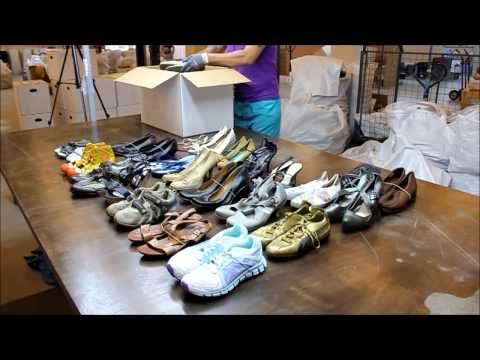 aa12f158fa2fd USED SHOES wholesale second hand shoes export from China - YouTube