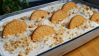 Marie Biscuits Delight ♥️ | Easy And Quick Dessert Recipe