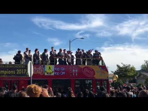 West Torrance boys cross country parade