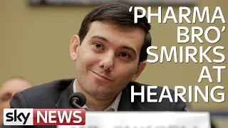 Pharma Bro Smirks at Hearing