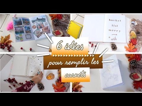 6 IDÉES pour remplir TES CARNETS / CAHIERS! 📒 ⎜Merry