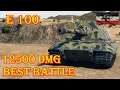 E 100  12500 Damage  El Halluf  World of Tanks 0.9.17