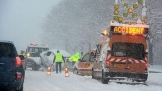 Cars Crash on icy road Compilation February - March New 2013 In HD (720p)