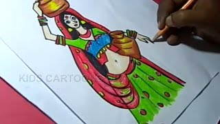 How to Draw Lambada girl Drawing Step by Step for Kids