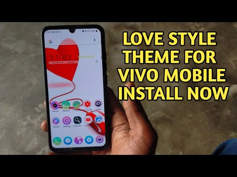 New Love Style Theme For Vivo Mobile