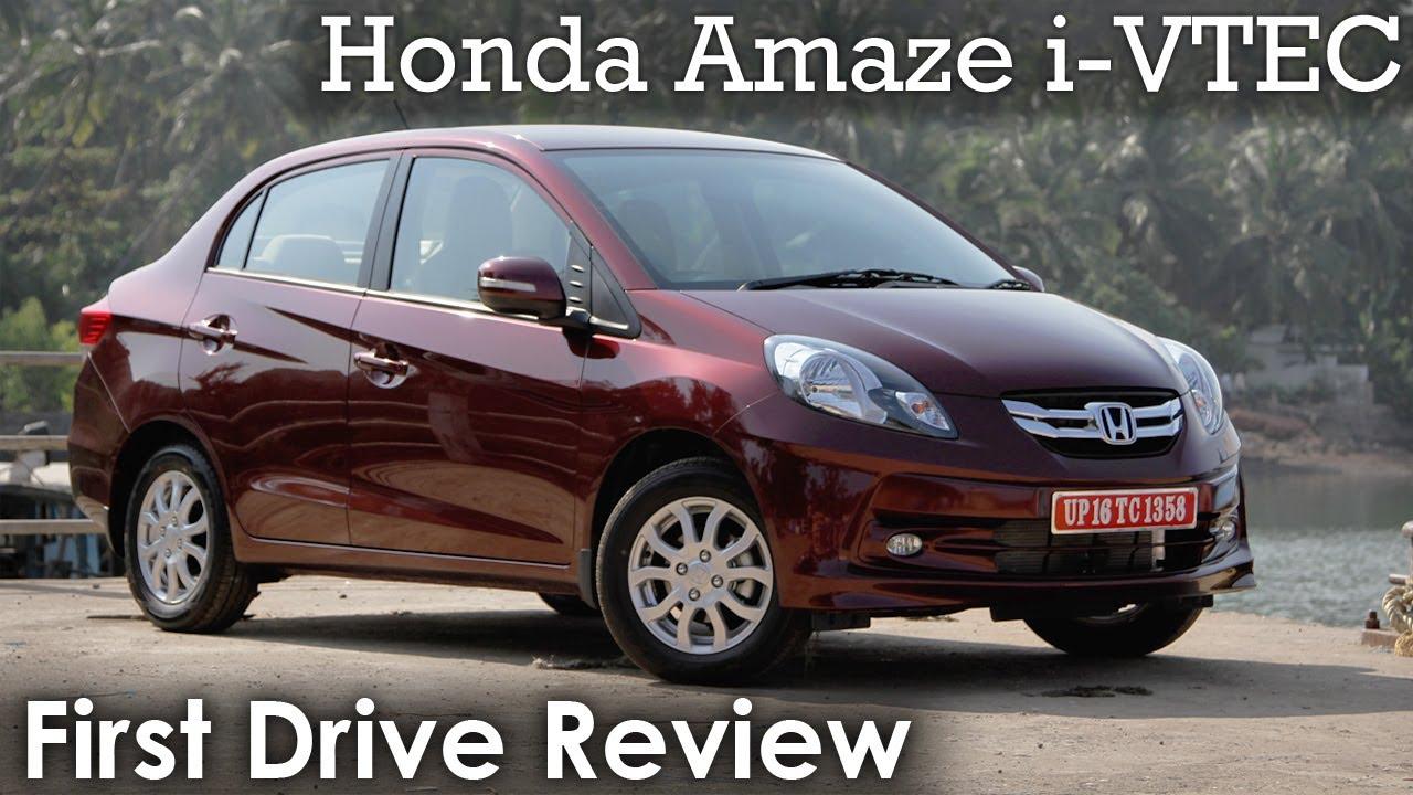 Honda Amaze I Vtec Petrol Review Youtube