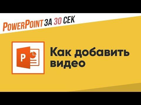 Как добавить видео в презентацию Powerpoint