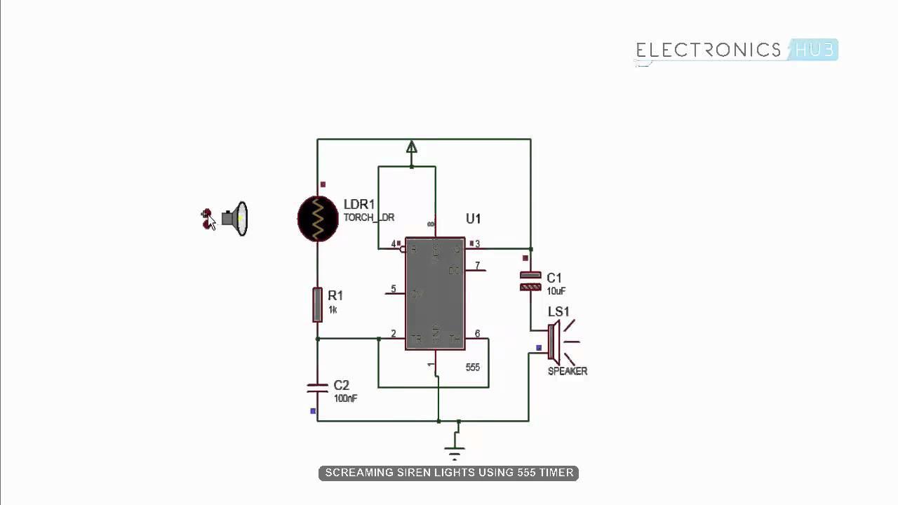 circuit using 555 timer