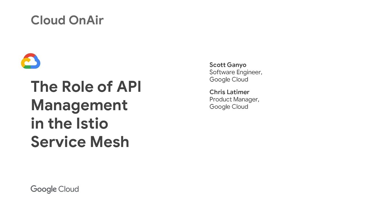 Cloud OnAir: The Role of API Management in the Istio Service