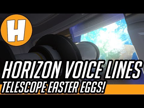 Overwatch - NEW Horizon Voice Lines, Interactions And Telescope Easter Eggs!   Hammeh