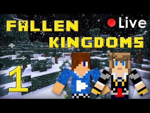 fallen kingdoms live : frigiel & siphano - minecraft #1