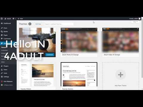 Free orange adult WordPress theme
