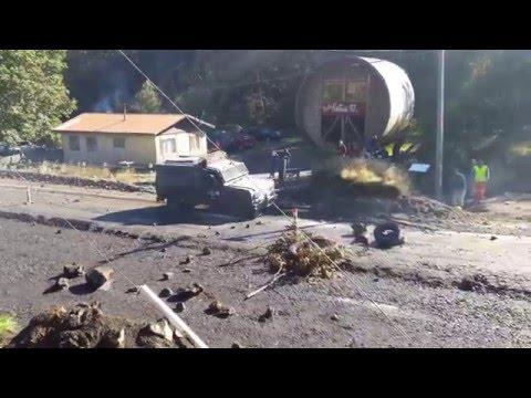 Enfrentamientos entre Carabineros y Vecinos de Neltume