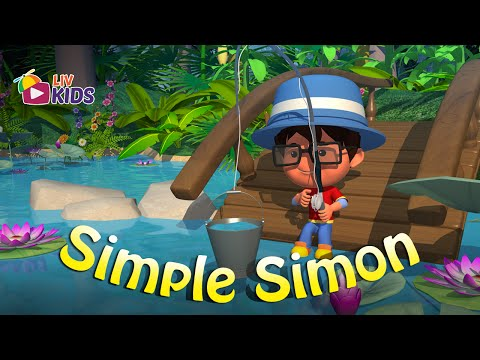 Simple Simon Met A Pieman with Lyrics |  LIV Kids Nursery Rhymes and Songs | HD