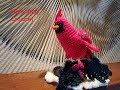 Helenmay Crochet Christmas Cardinal Part 1 of 2 DIY Video Tutorial