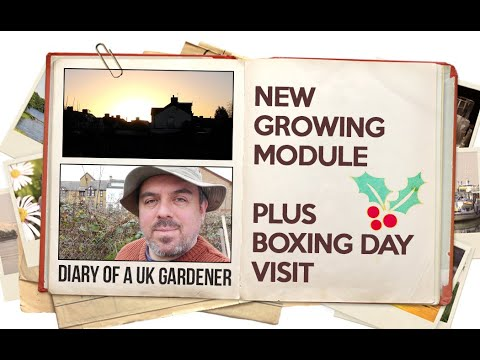 Sean's Allotment Garden 36: New Growing Module And Boxing Day Visit (December Y1)