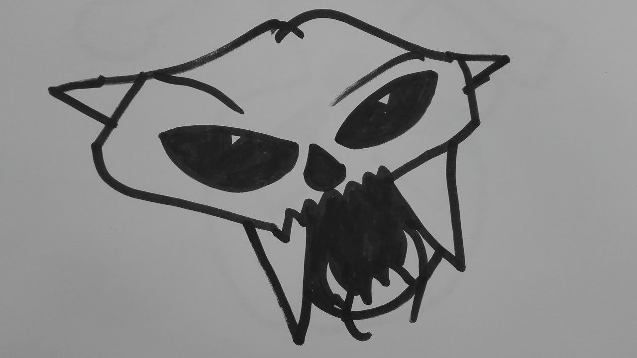 How To Draw Puma Skull Draw Puma Skunk Skunk Drawing Easy Youtube