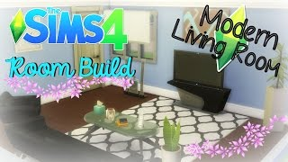 The Sims 4 : Room Build - Modern Living Room