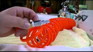 Harbor Freight - Central Pneumatic 25 Ft. Coiled Polyurethane Air Hose Review