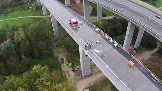 #S21 Sulzbachviadukt Höhenrettungsübung der Feuerwehr Neuhausen am 11.10.2014