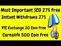 Most Important Socialcrypt 26$ Airdrop | YTC Exchange 40 Token Free | BestEarningTips