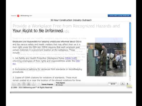 30 Hour OSHA Training Course Online