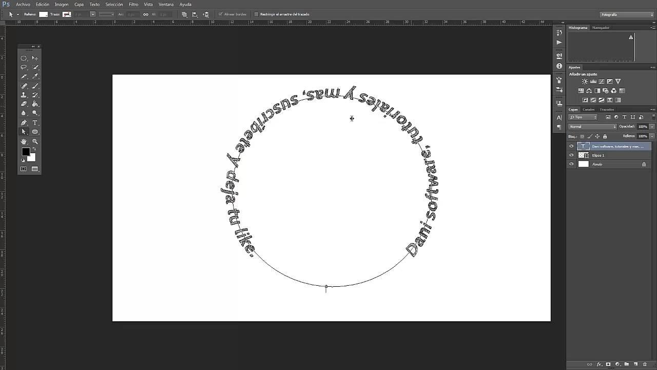 Dibujos Para Photoshop: Tutorial Photoshop CC: Como Crear Texto Con Forma