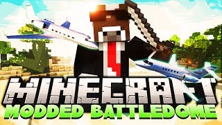 "Minecraft ""AIRSHIP ARCHIMEDES MOD"" MODDED BATTLEDOME - Part 1 of 2 ( Minecraft Airplane Mod )"