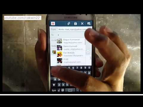 Samsung Galaxy S4 : How to send pictures via email (Android Kitkat)