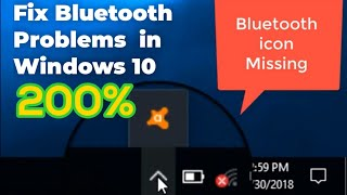 How To Fix Bluetooth Icon Missing Issue, My Laptop Won't Connect to Bluetooth Devices