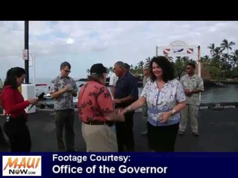 Surveying Tsunami Damage - Governor Neil Abercrombie - March 15, 2011