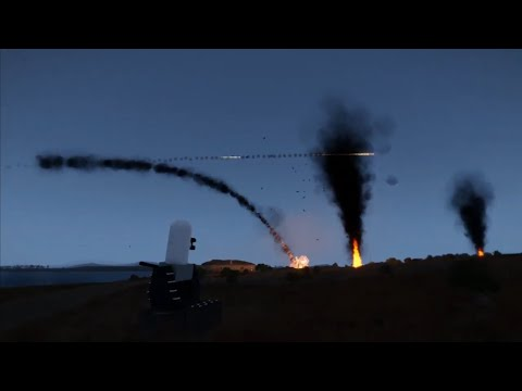 Arma3 defence shooting down missiles phalanx anti missile defense system game play