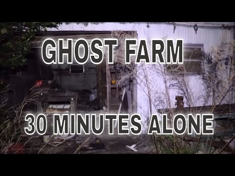 "(30 Minute ALONE Challenge) ABANDONED ""GHOST FARM"" AT 2AM.  TAKE A TRIP INTO ""THE HEART OF DARKNESS"""