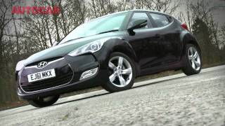 Hyundai Veloster video review(The new Hyundai Veloster is the most radical model to appear in the Korean maker's UK range since the Mk1 Coupe. Can the quirky Veloster compete with the ..., 2012-02-28T12:44:03.000Z)