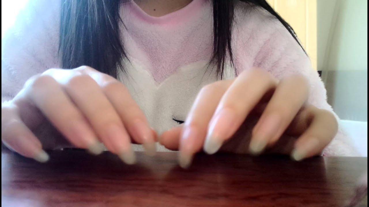 ASMR Daisy\'s long nails claer and sharp - YouTube