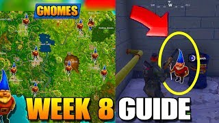 FORTNITE WEEK 8 *ALL SECRET GNOMES LOCATIONS* REVEALED - Week 8 Challenges Guide