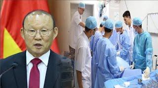 HLV  Park Hang Seo nhập viện tiểu phẫu khiến NHM lo lắng