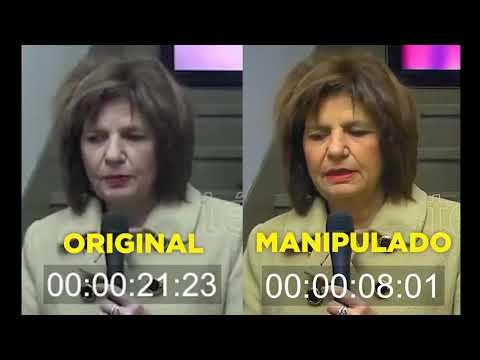 Manipulan un video de Patricia Bullrich para que parezca borracha