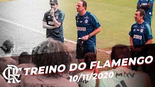Rogério Ceni comanda o primeiro treino como técnico do Flamengo