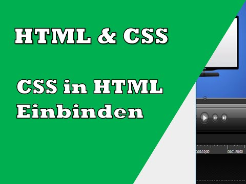 CSS In HTML Einbinden | Tutorial