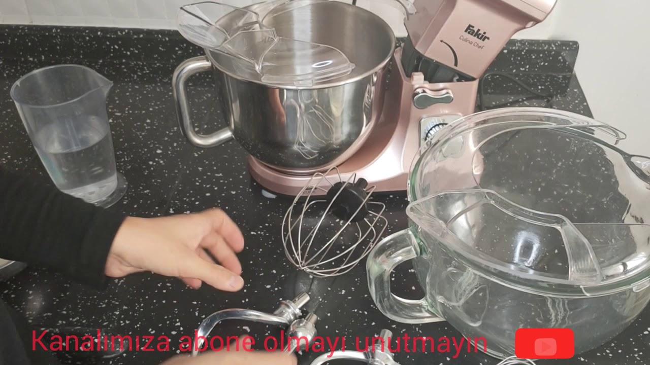 Fakir Fmix hamur yuğurma makinasında kek yapımı