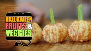 Halloween Fruits and Veggies Segment Part 2 - HellthyJunkFood