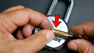 How To Greatly Increase Pick Resistance Of Master Lock Magnum Padlocks!