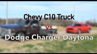 84 Chevy Truck vs Daytona Charger - 5.3 C10 LS1
