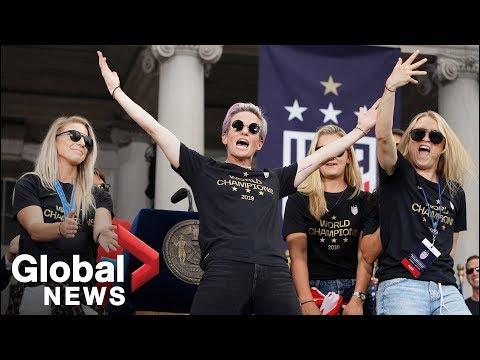 Megan Rapinoe's FULL speech at U.S. Women's World Cup champions parade