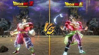 DBZ Broly VS DBS Broly | Side by side Comparison for SSJ4 Form! - Dragon Ball Xenoverse 2