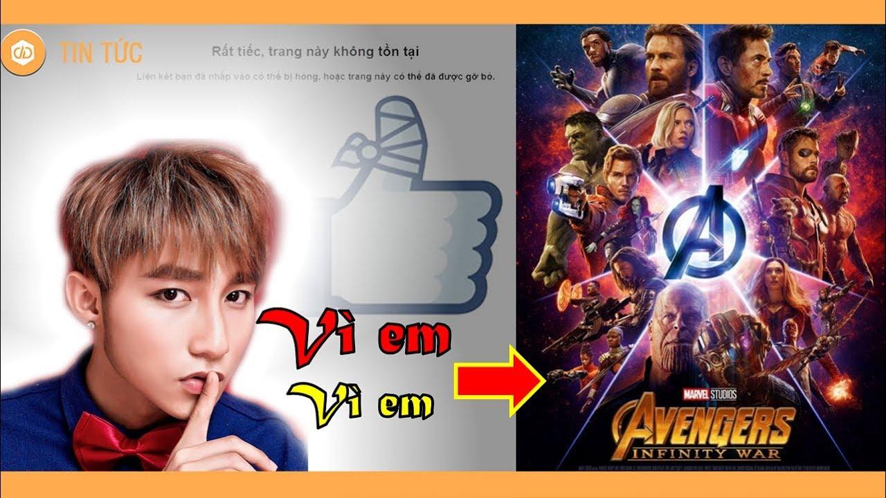 Sơn Tùng M-TP khóa Facebook, Insta vì Avengers: Infinity War? - YouTube