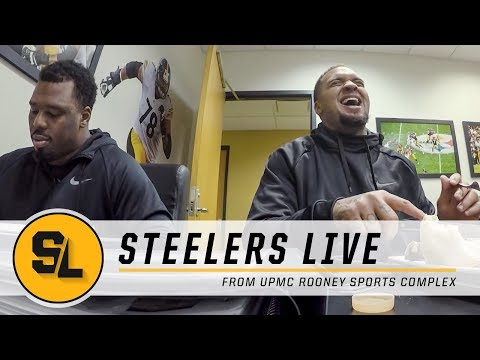 Whos out for Sunday, Lunch with the Offensive Line | Steelers Live