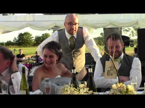 Best man sings Disney song- Beauty and the Beast- 'Be our Guest'